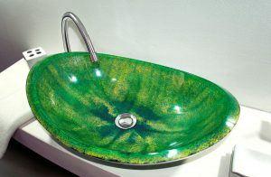 lavamanos modernos hechos a mano grande epoxica estropajo