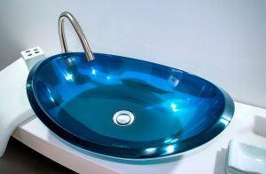 lavamanos modernos hechos a mano grande epoxica cianita tibetana