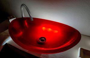 lavamanos modernos hechos a mano grande epoxica diamente rojo1