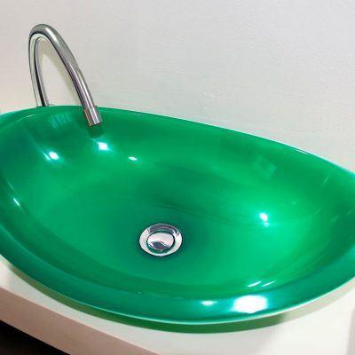 lavamanos modernos hechos a mano grande epoxica jade
