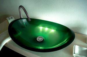 lavamanos modernos hechos a mano modelo uretano optica esmeralda