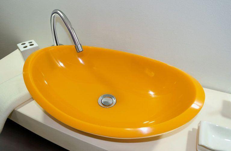 lavamanos modernos hechos a mano grande epoxica calcedonia amarilla