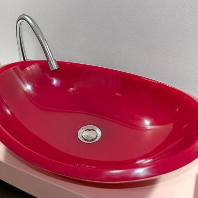 lavamanos modernos hechos a mano grande epoxica jaspe rojo