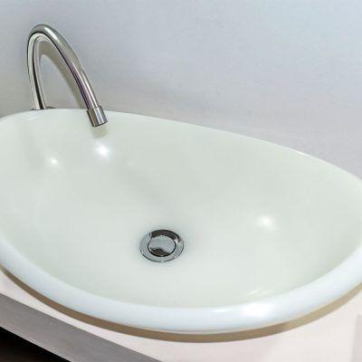lavamanos modernos hechos a mano modelo uretano optica cuarzo blanco