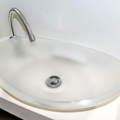 lavamanos modernos hechos a mano modelo uretano optica diamante opaco