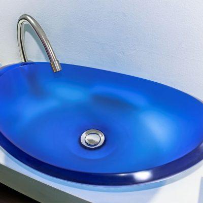 lavamanos modernos hechos a mano modelo uretano optica zafiro