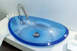 lavamanos modernos hechos a mano modelo uretano optica zafiro claro